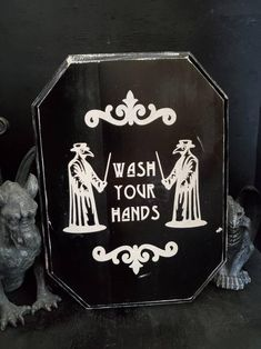 Gothic home decor bathroom decor wash your hands Halloween Gothic Bathroom Decor, Goth Home Decor, Dark Home Decor, Boho Decor, Gothic Room, Gothic House, Gothic Living Rooms, Victorian Gothic Decor, Gothic Fairy