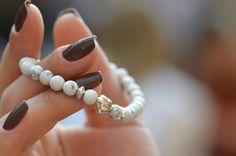 Heart Bracelet white Bracelet Love Bracelet by AnnesJewellery