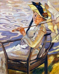 ~ Leo Putz ~ German artist, 1869-1940: In the Light of the Sun