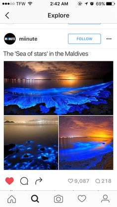 """It turns out that putting a certain type of plankton under stress results in one of the most stress-relieving sights on the planet, their resultant blue glow creating astral patterns on sea shores Vacation Places, Dream Vacations, Romantic Vacations, Italy Vacation, Oh The Places You'll Go, Cool Places To Visit, Destination Voyage, Beautiful Places To Travel, Adventure Is Out There"
