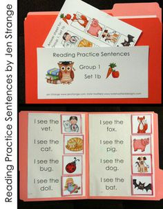 "Want a FREE SAMPLE of an early literacy printable?  Out of the many many sets available in my 3 Groups of Reading Practice Sentences, I have one set available as a free sample.  Check it out and see if one or all of the groups might be something you can use! :: Perfect for introducing sentences and concepts of print to new and budding readers. :: Combines sight words ""I"" ""see"" and ""the"" with CVC words to sound out. FILE FOLDER GAMES :)"