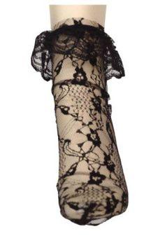 Black Lacey Anklet Sock