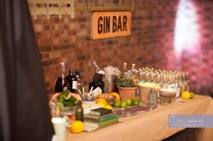 Gin Bar | Lower Grange Farm | Your Wedding Your Way | Laura and Neil