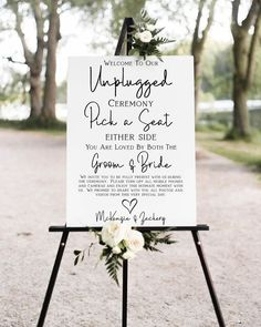 Wedding Ceremony Signs, Wedding Welcome Signs, Wedding Ceremony Decorations, Wedding Signage, Unplugged Wedding Sign, Outdoor Wedding Signs, Outdoor Ceremony, Wedding Ceremonies, Wedding Seating Signs