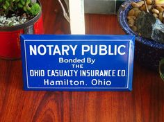 Enamel Metal Notary Public Sign Ohio by KentonCollectibles on Etsy, $28.00   etsy