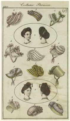 Costume Parisien, Journal des Dames et des Modes, 1805; NYPL 824144
