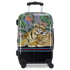 Being stylish, and ferocious is simple; take a page from these lazy cats book! The perfect fit in any overhead storage, cut all the hassle of measuring out bags! Made from poly-carbonate making it super light weight and easy to carry around. This luggage also comes with four multi-directional spinner wheels, pivoting on a dime for any tight! Print Place, Overhead Storage, Hardside Luggage, Lazy Cat, Tropical Birds, Making Waves, Luggage Sets, Perfect Fit