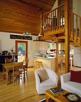 like the cedar ceiling and loft over the kitchen