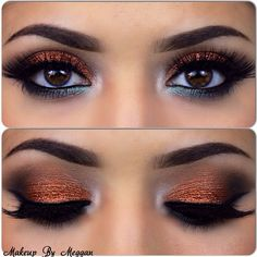 Bronze eye shadow, desi bride, desi makeup, Indian wedding makeup