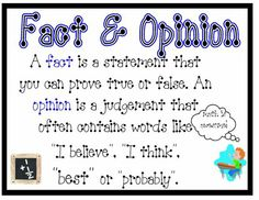Fact and Opinion ~ nicadez.blogspot.com
