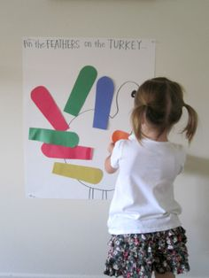 Pin the feathers on the turkey