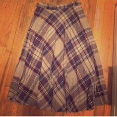"Vintage plaid skirt Purchased from another posher. Actually vintage. I only wore once. 25"" waist and about 27"" long- so mid/knee length American Apparel Skirts Midi"