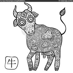 Chinese Zodiac Signs Coloring Pages Printable