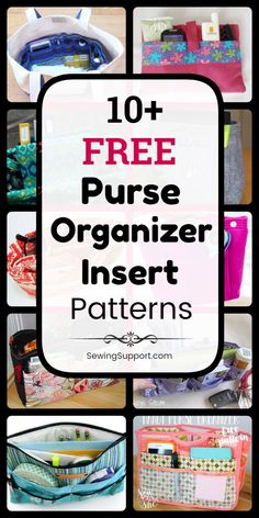 Purse Organizer Patterns: Sew a purse organizer insert with this collection of e. Purse Organizer Patterns: Sew a purse organizer insert with this collection of eleven free purse or Diy Sewing Projects, Sewing Projects For Beginners, Sewing Hacks, Sewing Tutorials, Sewing Tips, Bags Sewing, Sewing Clothes, Sewing Crafts, Purse Organizer Pattern