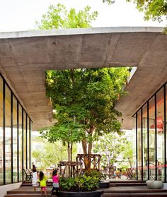 a series of open air garden and public space has been established instead of am large enclosed community mall in this neighborhood commercial space by studo architects in bangkok. via designboom- architecture, bangkok