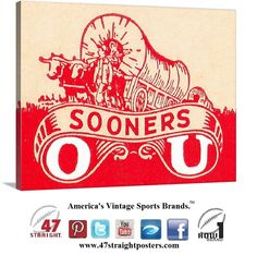 #mobilecommerce #ecommerce #startups #startup #growthhacking #brand #OU #Sooners #collegefootball art made from authentic vintage Sooners art.  #Oklahoma #canvasart #47straight #gameroom #mancave #homedecor #collegefootball #sportsart http://www.shop.47straightposters.com/Vintage-OU-Sooners-canvas-art-Oklahoma-Sooners-gift-ideas-55-OU.htm