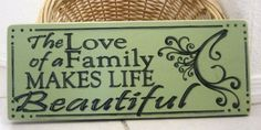 Primitive Wood Sign  The Love of A Family by SunburstOutdoorDecor, $24.00