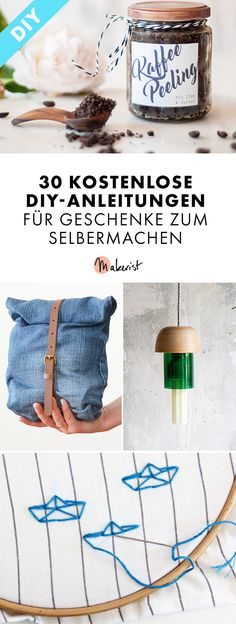 30 kostenlose diy anleitungen für geschenke zum selbermachen pin Best Picture For DIY Gifts for bestfriend For Your Taste You are looking for something, and it is going to tell you exactly what yo Upcycled Crafts, Diy Crafts To Sell, Crafts For Kids, Sell Diy, Kids Diy, Diy Dusters, Diy Savon, Stampin Up, Diy Makeup
