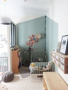 New Bedroom Modern Girl Children Ideas Baby Bedroom, Kids Bedroom, Bedroom Decor, Trendy Bedroom, Modern Bedroom, Wall Color Combination, Blue Wall Colors, 2 Kind, Apartment Layout