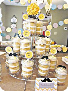 Cutest little man party idea! Looove it!