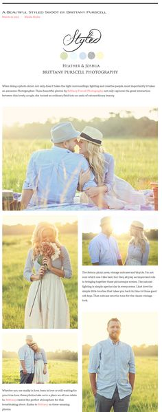 When doing a photo shoot, not only does it takes the right surroundings, lighting and creative people, most importantly it takes an awesome Photographer. These beautiful photos by Brittany Purcell Photography not only captures the great interaction between this lovely couple, she turned an ordinary field into an oasis of extraordinary beauty.