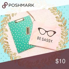 💕Sassy organizer bag! 💕 Medium sized organizer bags for those planner girls or makeup girls to carry all your essential needs! Use as travel zip up case or a school stationary bag! Totally up to you! Super cute and pink! Brand NEW and SASSY! 💕💕💕💕💕 Bags Cosmetic Bags & Cases