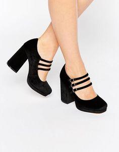 ASOS   ASOS POP UP Velvet Heels