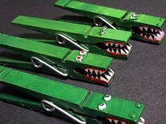 DIY: wasknijper met krokodil.