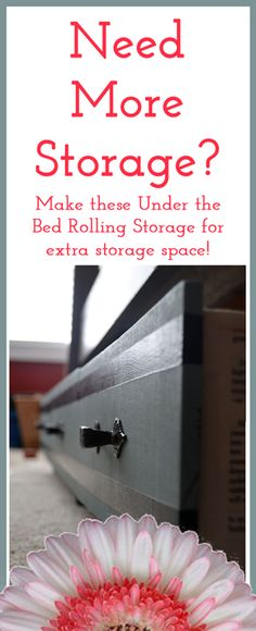 Need More Storage?  Make some Under Bed Rolling Storage from Salvaged Drawers!