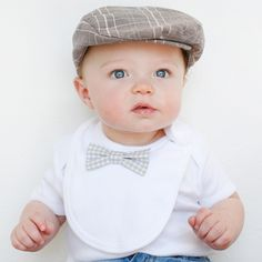 bow tie baby bib | wedding chicks