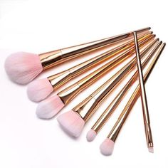 Fortan 7Pcs Set Berufsbürstensatz Augen und Wangen Make-up Pinsel-Rose Gold: Amazon.de: Beauty