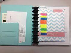 plum paper planner in an arc discbound system notebook