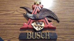 Vintage Anheiser Bush American Eagle Sign for your Bar, Tavern or Man Cave