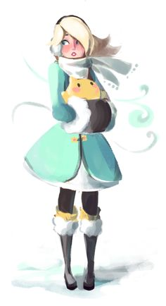 """cloveochai: """" someone asked me to draw rosalina in winter weather clothes and how could i resist """" Mario Fan Art, Super Mario Art, Super Mario Brothers, Super Smash Bros, Harmonie Mario, Game Character, Character Design, Nintendo Princess, Princesa Peach"""