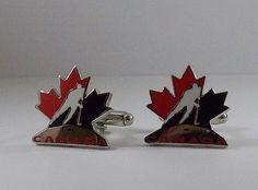 Team Canada Hockey Cufflinks Cuff Links Jewelry Jersey Toronto Maple Leafs 10e0770d2