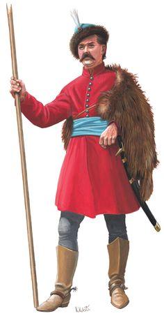 Croatian light cavalryman, 1665
