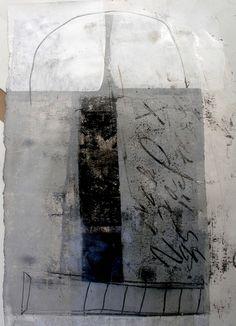 """neutralnotes:  (via Saatchi Online Artist: Charles Gallagher; Monotype, Printmaking """"receiver"""") Charles Gallagher"""