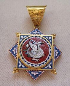 Victorian micro mosaic swan