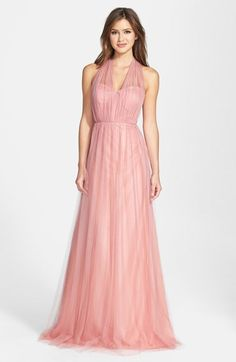 Jenny Yoo 'Annabelle' Convertible Tulle Column Dress (Regular & Plus Size)
