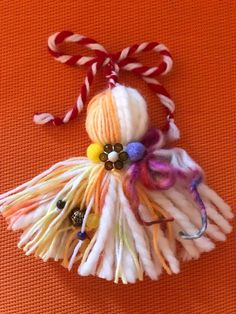 Baba Marta, Paper Flowers Diy, Tassels, Jewelery, Dolls, Christmas Ornaments, Holiday Decor, Handmade, Crafts