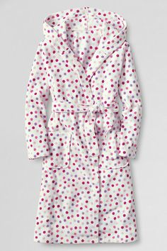 Girls' Printed Fleece Hooded Robe from Lands' End
