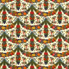 Dellarobia Fruit Garlands Florentine Print Paper ~ Rossi Italy
