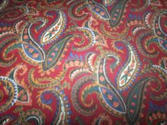 "PAISLEY FABRIC NEW 36"" X 32"""