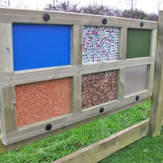 Product ID [4912] The Sensory Textures Panel is a great way for children to explore different textures and learn about the world around them.