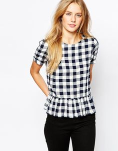 Image 1 of Jack Wills Structured Check Top