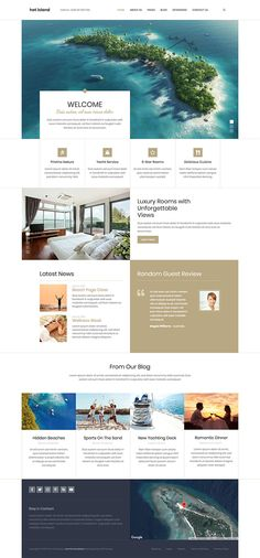 Island template is responsive travel Joomla! template appropriate for websites of hotels, resorts and touristic places. The boxed layout of this template as well as fonts selection highlights the luxury and elegance. Joomla Templates, Luxury Rooms, Luxury Travel, Resorts, Highlight, Travel Destinations, Fonts, Hotels, Layout