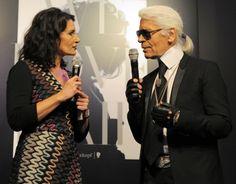 Tina Müller von Henkel und Designer Karl Lagerfeld. Foto: Schwarzkopf