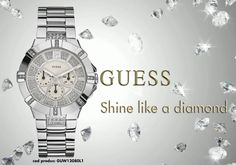 Shine like a diamond with GUESS  http://ceasmania.ro/ceasuri-guess/915-guess-guw12080l1.html