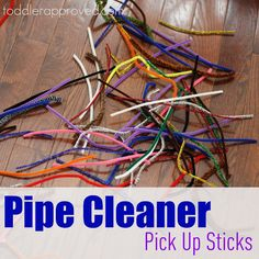 Pipe Cleaner Pick Up Sticks from  toddlerapproved.com