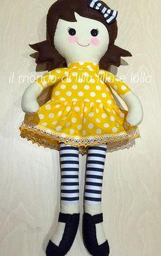 elena - bambola in stoffa